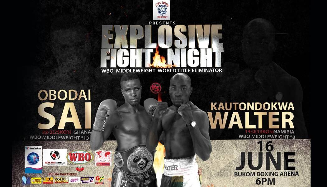 Obodai Sai-Walter Kautondokwa Fight Poster